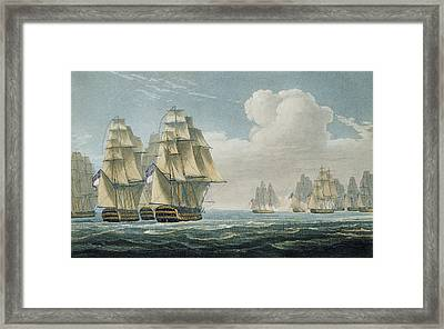 After The Battle Of Trafalgar Framed Print by Thomas Whitcombe