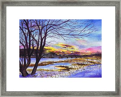 After The Blizzard Bayville Framed Print by Susan Herbst