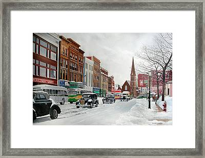 After The Blizzard Framed Print by John Fitzsimmons