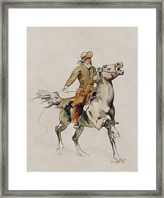 After The Cowboy Framed Print