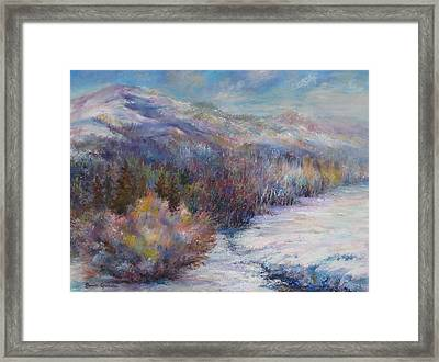 After The First Thaw Framed Print