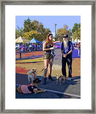 After The Halloween Dog Costume Contest Framed Print by Alice Ramirez