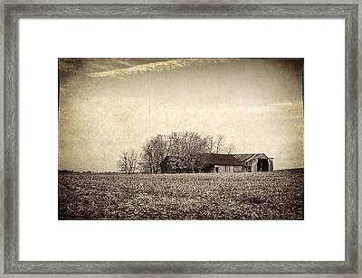 After The Harvest Framed Print by Jeff Burton