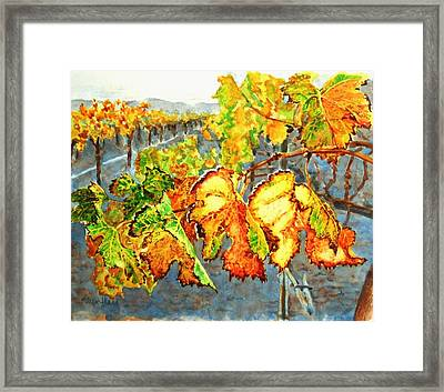 Framed Print featuring the painting After The Harvest by Karen Ilari