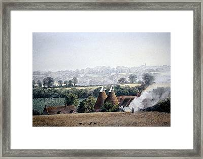 Framed Print featuring the painting After The Harvest by Rosemary Colyer