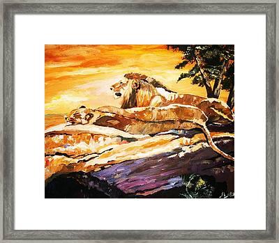 After The Hunt Framed Print by Al Brown