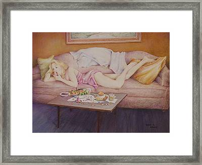 Lucky Couch Framed Print