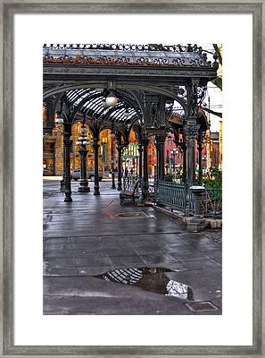 After The Rain At The Pergola - Seattle Washington Framed Print