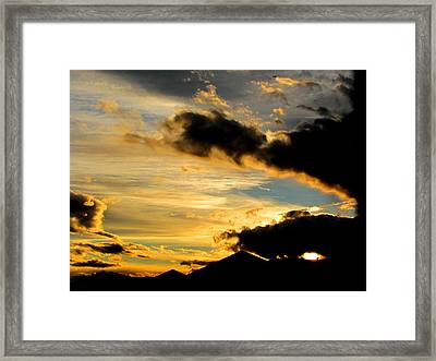After The Rain Came The Sunset. Framed Print by Joyce Woodhouse