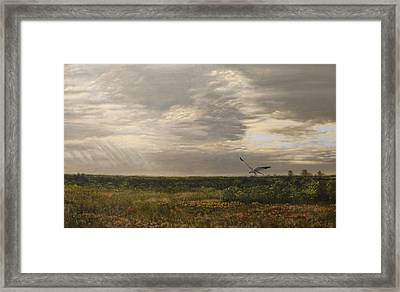 After The Rain The Larks Started Singing Framed Print
