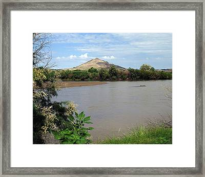 After The Rains At Picacho Peak Framed Print by Kurt Van Wagner