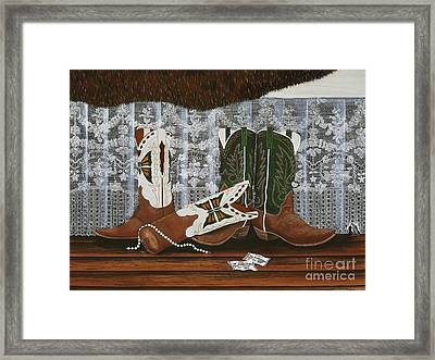 After The Rodeo Dance Framed Print