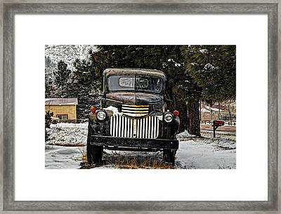 After The Snow Falls Framed Print by Ken Smith