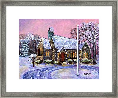 After The Snow On Christmas Eve Framed Print by Rita Brown