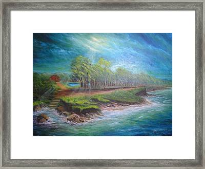 After The Storm Framed Print by Affordable Art Halsey