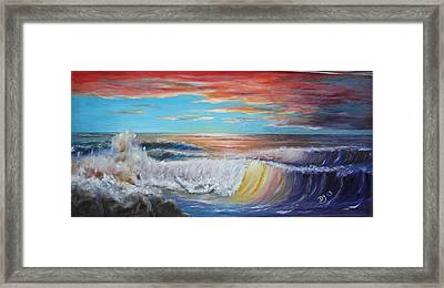 After The Storm At Fort Gaines Framed Print