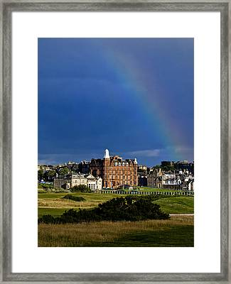 Framed Print featuring the photograph After The Storm At St. Andrews Golf Old Course Scotland by Sally Ross