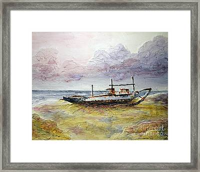 Framed Print featuring the painting After The Storm by Joey Agbayani