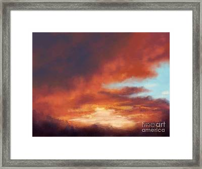 After The Storm Framed Print by Judy Filarecki