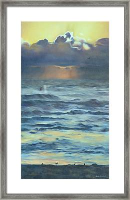 Framed Print featuring the painting After The Storm by Lori Brackett