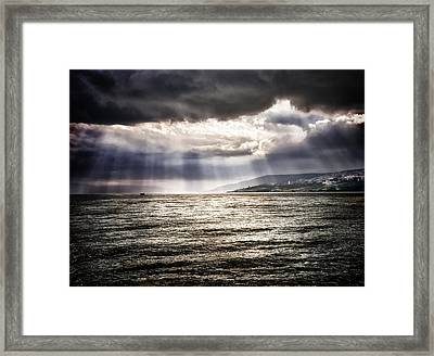 After The Storm Sea Of Galilee Israel Framed Print