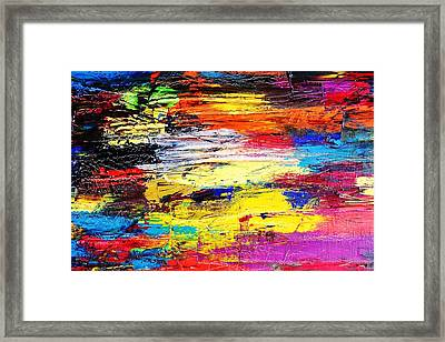 After The Storm The Sunset Framed Print