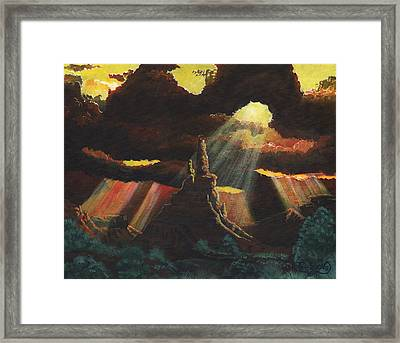 After The Storm Framed Print by Timithy L Gordon