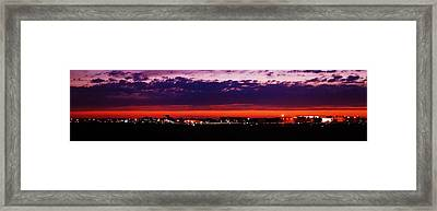 After The Sunset At Gerald R Ford Airport Framed Print by Rosemarie E Seppala