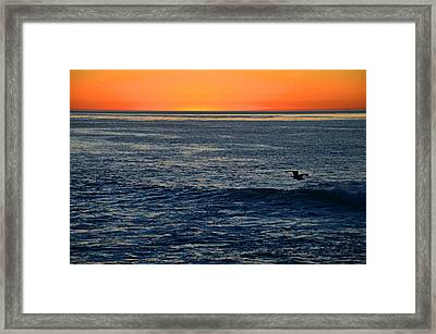 After The Sunset Glow In La Jolla Framed Print by Sharon Soberon