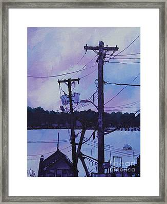 After The Sunset Framed Print by Michael Ciccotello