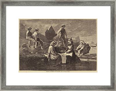 After Winslow Homer, Seesaw - Gloucester Framed Print by Quint Lox