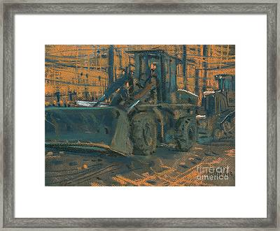 Bull Dozer Framed Print by Donald Maier