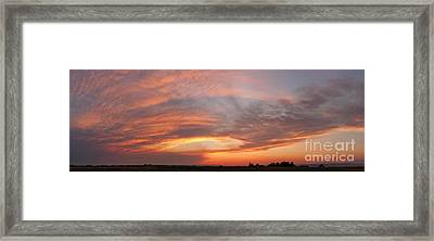 Framed Print featuring the photograph Afterglow by Charles Kozierok
