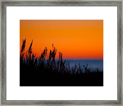 Afterglow In The Dunes Framed Print by Andy Langeland