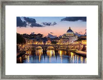 Afterglow, St Peters Basilica, Rome Framed Print by Joe Daniel Price