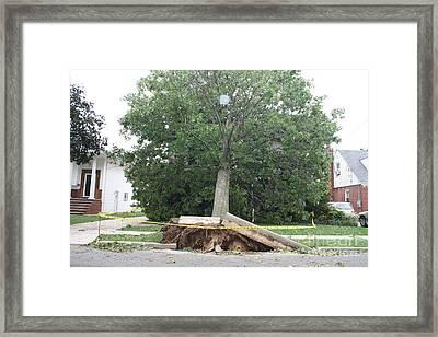 Aftermath Of Hurricane Irene Framed Print by John Telfer