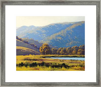 Afternnon Light Lithgow Framed Print by Graham Gercken
