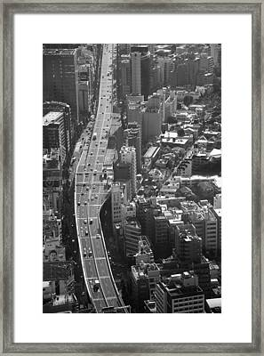 Framed Print featuring the photograph Afternoon Above Tokyo by Brad Brizek