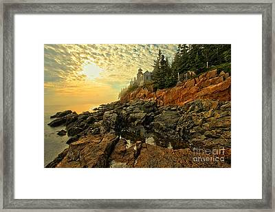 Afternoon At Bass Harbor Framed Print by Adam Jewell