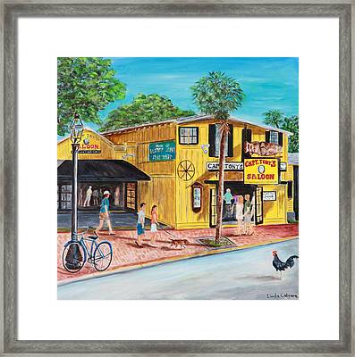 Afternoon At Capt. Tony's Framed Print