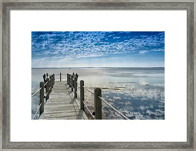 Afternoon At Currituck Sound Framed Print