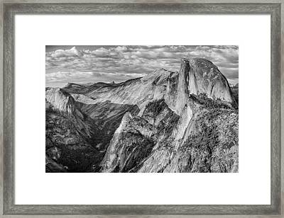 Afternoon At Half Dome Framed Print by Harry H Hicklin