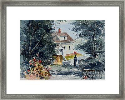 Afternoon At Owl's Head Lighthouse Framed Print by Monte Toon