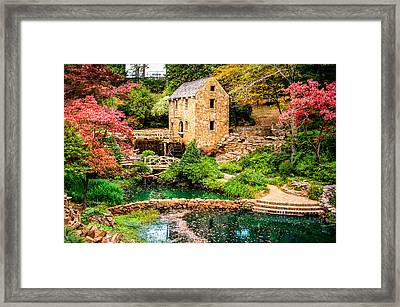 Framed Print featuring the photograph Afternoon At The Old Mill - Arkansas by Gregory Ballos