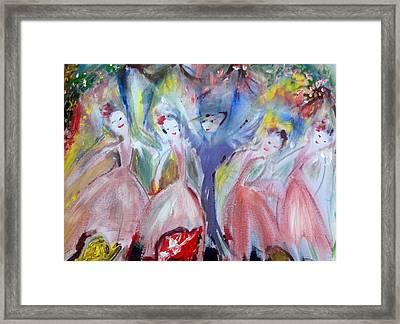 Afternoon Bird Ballet Framed Print by Judith Desrosiers