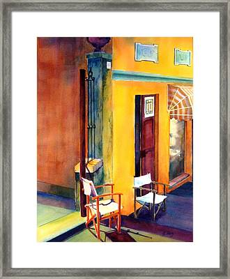 Afternoon Break Framed Print by Betty M M   Wong