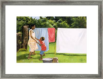 Afternoon Break Framed Print by Colin Bootman
