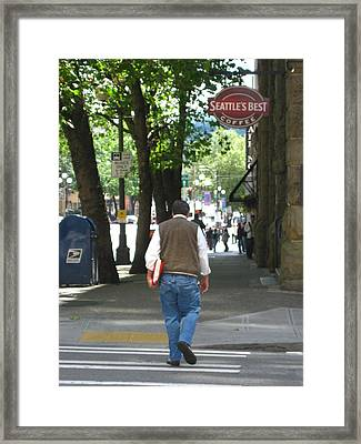 Afternoon Business Afternoon Stroll Framed Print