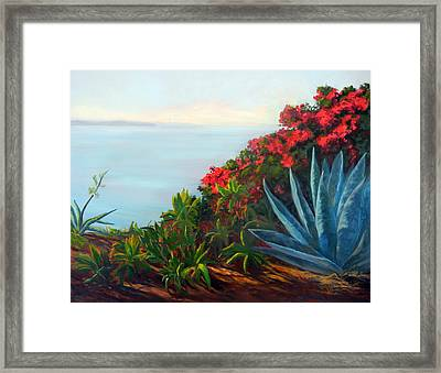 Afternoon Channel Framed Print by Dorothy Nalls