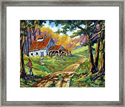 Afternoon Chores By Prankearts Framed Print